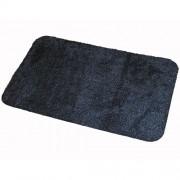 Antracitová bavlněná textilní pratelná vstupní vnitřní čistící rohož Natuflex - délka 80 cm, šířka 50 cm a výška 0,8 cm