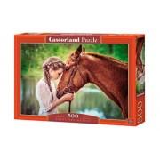 Puzzle Fata si calul ei, 500 piese