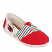 Action Red Slip On Girls's Bellies ]T-29-RED