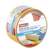 Banda dublu adeziva tesa® Universal pentru covoare, transparenta 10 m x 50 mm