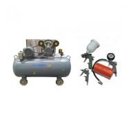 Pachet compresor de aer Stager HM-V-0.6/370L 370L 8BAR cu kit 4 accesorii compresor