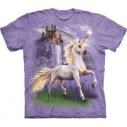 Spiru T-Shirt Mountain Artwear Unicorn Castle XL