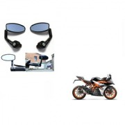 Kunjzone Premium Quality Motorycle Bar End Mirror Rear View Mirror Oval for KTM RC 390