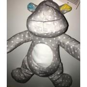Doudou Peluche Hippopotame Gris Pois Blancs Nicotoy Simba Toys Benelux Jouet Eveil Bebe Naissance Cadeau Hippo Ours Gris Blanc Mixte