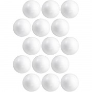 Merkloos 15x Knutselmateriaal bal/bol 8 cm styrofoam/polystyreen/piepschuim