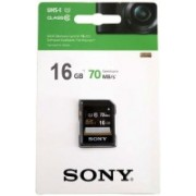 Sony UHS I 16 GB Ultra SDHC Class 10 70 MB/s Memory Card