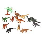 Coxeer Dinosaur Toy, 12Pcs Toy Dinosaurs Funny Dinosaur Figures Mini Dinosaur Toy Set for Children(Random Color) 2 Sizes 12Pcs(Toy Dinosaurs)