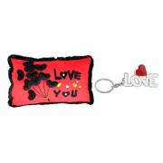 Tickles Loving Valentine Love You Cushion and Love Keychain Cushion Gift Set