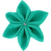 Papa Pique et Maman Coud Barrette fleur étoile 4 - Vert laurier