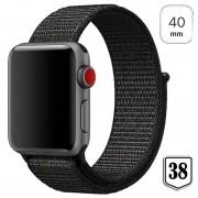 Apple Watch Series 4/3/2/1 Nylon Strap - 40mm, 38mm - Black