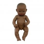Papusa bebelus african baiat Miniland, 32 cm