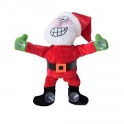 Пеещ и танцуващ Дядо Коледа, който може да се залепи за прозореца - 30 см.