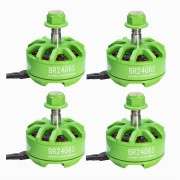 4X Racerstar 2406 BR2406S Green Edition 2600KV 2-4S Brushless Motor For X220 250 300 RC Drone FPV Racing