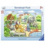 Детски пъзел - Разходка до зоопарка, 15 елемента, Ravensburger, 7006116