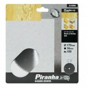 Piranha cirkelzaagblad standaard chroom vanadium 170x16 mm 100 tanden X10290