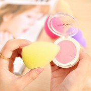 Great Beauty Facial Makeup Water-drop Sponge Blending Foundation Smooth Sponge Cleansing Cosmetic Cotton Pads, Random Color Delivery