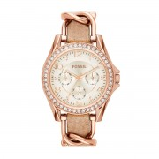 Часовник FOSSIL - Riley ES3466 Light Brown/Rose Gold