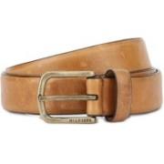 Tommy Hilfiger Men Casual Tan Genuine Leather Belt