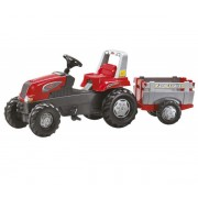 Traktor na pedale sa prikolicom Rolly Junior crveni