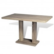 vidaXL Dining Table MDF Oak-look