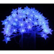 6M Con 40 Lámparas De Cadena De Forma Estrella Para Navidad O Adornar - Azul