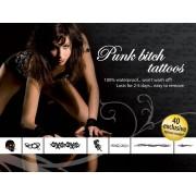 Adult Body Art Tatouages Temporaires Punk Bitch Tattoos