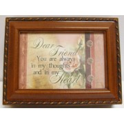 Cottage Garden Dear Friend Woodgrain Music Box / Jewelry Box Plays Thats What Friends Are For