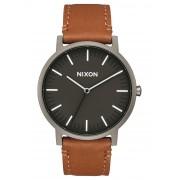 Nixon Analogové hodinky 'Porter Leather'
