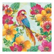 Ambiente 40x Servetten tropische papegaai print 3 laags