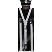 Tiekart Y- Back Suspenders for Men(White)