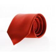 Krawatte Seide Ziegelrot F14 - Rot