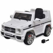 vidaXL Mașinuță ride-on SUV Mercedes Benz G65, 2 motoare, alb