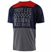 Troy Lee Designs Skyline Short Sleeved Checker Jersey - Navy/Grey - S - Blue/Grey