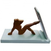 Onlineshoppee Wooden Unique Design Mobile Tablet Ipad Stand - Brown
