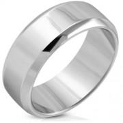 Ezüst színű gravírozható nemesacél gyűrű-11,5