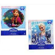 Disney Frozen Princesses Anna And Elsa 48 Piece Puzzles (Set Of 2 Puzzles)-Haguuqm8I