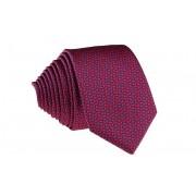 Pánská červená vzorovaná slim kravata - 6 cm
