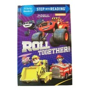 "Nickelodeon Step into Reading Hardcover Edition ~ Roll Together (2016; 8 Level Readers Comprised of Levels 1 and 2; Fold Out Poster; 39 Stickers; 6.25"" x 9.25"" x 0.75"")"