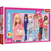Puzzle clasic copii - Barbie Poti fi ce vrei 100 piese