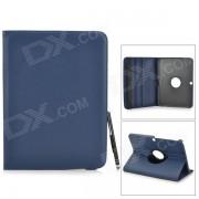 Funda protectora de cuero PU con lapiz optico para Samsung Galaxy Tab 3 10.1 P5200 / P5210 - Azul oscuro