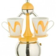 "Set Espressor Moka model ""America"" YELLOW"