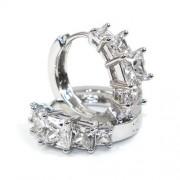 Swarovski kristályos fülbevaló Karika