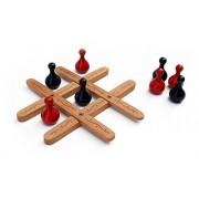 Maya Organic 4-In-1 Strategy Game: Tic Tac Toe (Beech Wood) + 3 Games