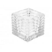 Üveg mécsestartó kocka 6cm ACC670870