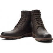 Clarks Naylor Top Boots For Men(Brown)