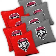 NEW MEXICO LOBOS Cornhole Bags SET of 8 Officially Licensed ACA REGULATION Baggo Bean Bags ~ Made in the USA