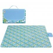 Portable Outdoor Ampliar Camping Mat Impermeable Oxford Tela Plegable Jardín A Prueba De Humedad Mat, Tamaño: El 145 * 80cm, Color Al Azar Y Estilo Entrega