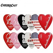 ChromaCast CC-HS-M Heart Shaped Picks Medium 12-Pack