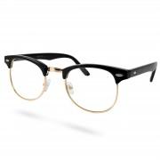 EverShade Vintage Brille In Schwarz & Goldfarben Mit Transparenten Gläsern