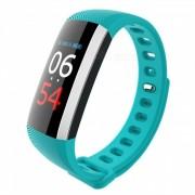 Measy G19 bluetooth V4.0 pulsera de fitness inteligente reloj de pulso de presion arterial podometro inteligente banda - cian
